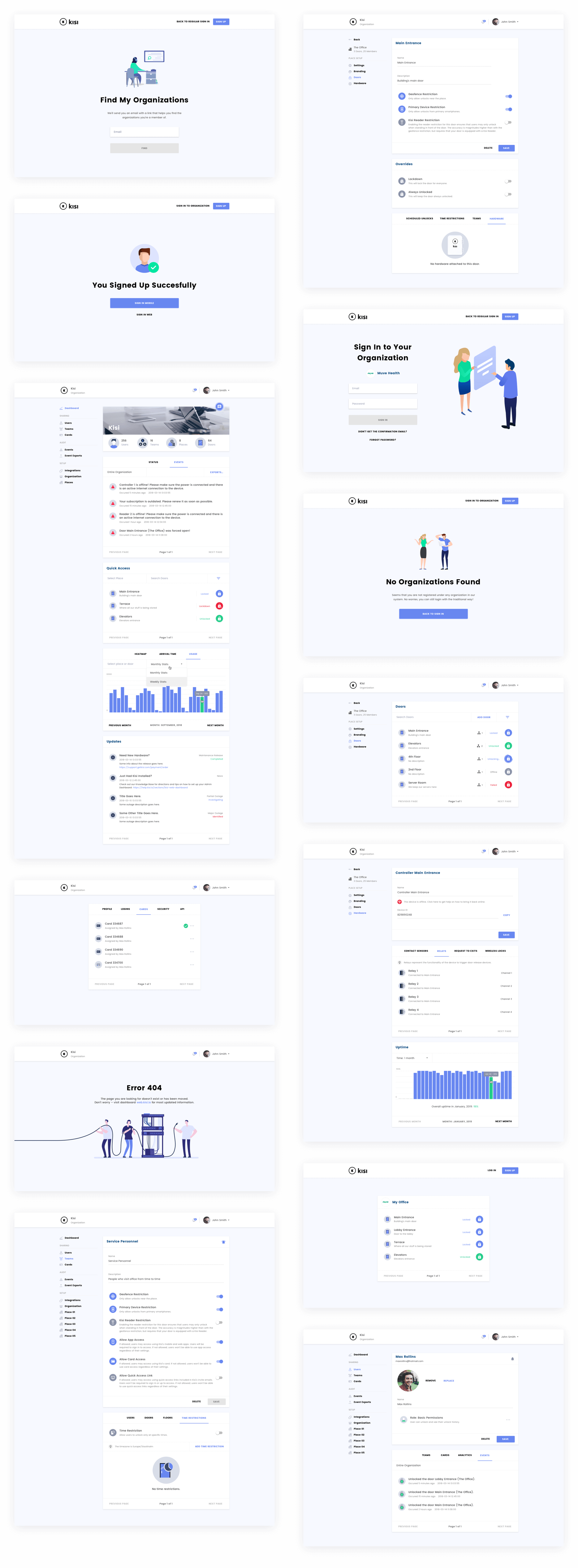 Kisi web app