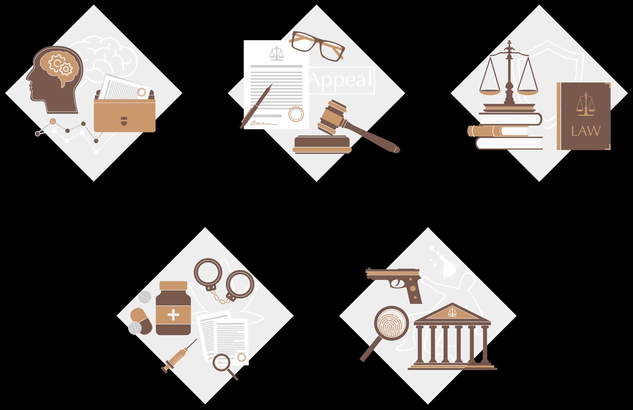 Crime illustrations