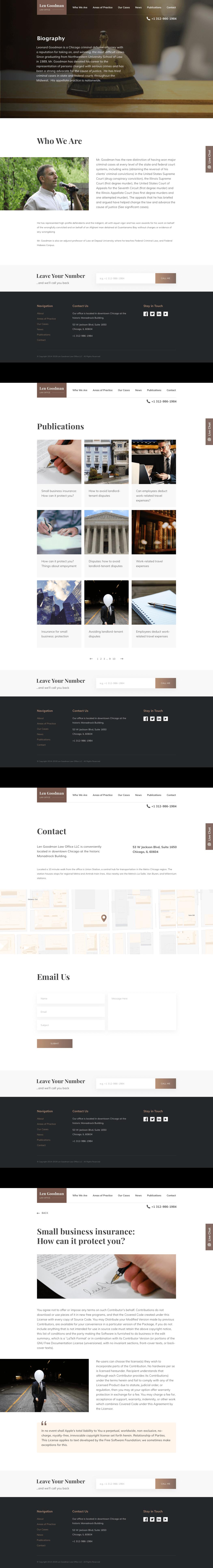 Len Goodman web design